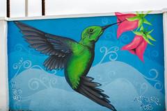 Aruba, San Nicolas, 2019 (Ben van hulten) Tags: art painting mural aruba hummingbird kolibrie