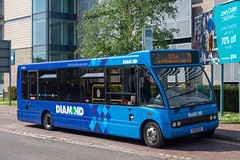Diamond KX11EER (Mike McNiven) Tags: rotala dimaond bus northwest optare solo salfordquays lowryoutletmall clifton newlivery new livery look salford quays ecclesdepot eccles depot gogoodwins