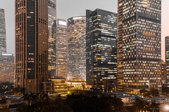 Office light (kevinho86) Tags: eos6d 40mm canon canton city cityscapes cloudy urban ontheroof pearlrivernewtown 珠江新城 downtown guangzhou landscape 城市 wideangle art longexposures lightshadow 天際線 都會 highview 建築