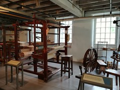 Spinning and weaving (daveandlyn1) Tags: nationaltrust quarrybankmill display looms spinningjenny smartphone cameraphone psdigitalcamera pralx1 p8lite2017 huaweip8 cheshire weavingshed