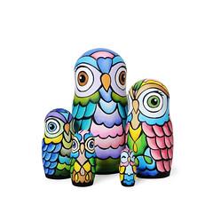 DSC07835 (fortmoon) Tags: owls etsy ecofriendly matryoshka handpainted