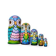 DSC07833 (fortmoon) Tags: owls etsy ecofriendly matryoshka handpainted