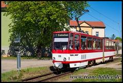 308-2019-04-25-3-Sundhausen Anger (steffenhege) Tags: thüringerwaldbahn gotha überlandbahn strasenbahn streetcar tram tramway tatra kt4d 308