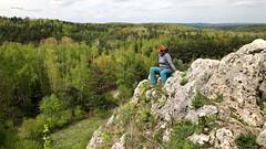 On the rocks (piotr_szymanek) Tags: outdoor landscape tree forest green rock marzka woman milf portrait 1k 20f 5k