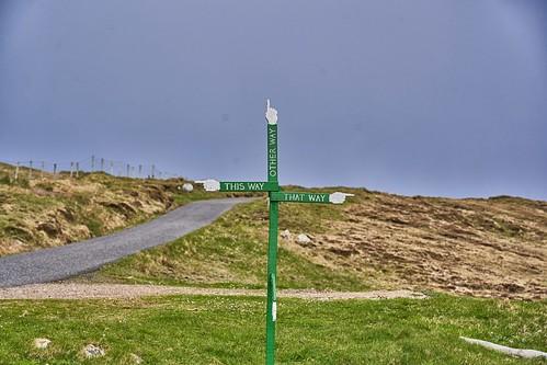 A signpost near Mangurstadh, Isle of Lewis