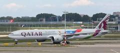 A7-BAK - Boeing 777-3DZ(ER) - Qatar Airways FIFA scheme  AMS 130519 (kitmasterbloke) Tags: aircraft aviation transport outdoor europe jet schiphol ams amsterdam