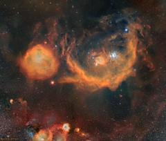 The Orion Molecular Cloud Complex presented in SHO (Andrew Klinger) Tags: