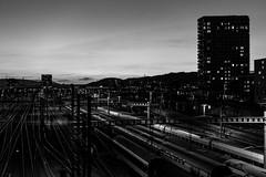 Monochrome sunset (jaeschol) Tags: abend europa europe hardbruecke hardbrücke kantonzürich kontinent kreis5 schweiz stadtzürich suisse switzerland zeit