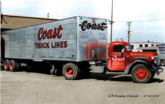 1948 GMC Coast Truck Lines Colorized - Dick Copello FLICKR Collection (gdmey) Tags: gmc gmctrucks fallenflag colorized