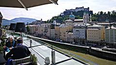 Salzburg 2019.06.01. Hotel Stein, Rooftop - 1.1 (Rainer Pidun) Tags: hotelstein rooftop salzachriver oldcity castle salzbug