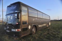 Van Hool Tourneebus, Tregurrian, Cornwall, Juli 2014