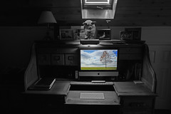 Another Gray Day 134.165 (lovbrkthru) Tags: 365 desk computer imac selectivecolor