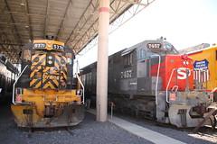 Merger Partners (Railfan Dan) Tags: drgw sp southernpacific denverriograndewestern tunnelmotor railroadmuseum ogdenutahtrains ogdenuttrains goldenspike up150 150thanniversary utahstaterailroadmuseum