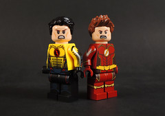 Eobard and Barry (-Metarix-) Tags: lego super hero minifig dc comics comic flash reverse barry allen eobard thawne custom cw legacy neative speedforce
