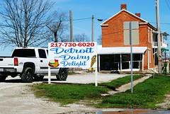 Detroit Dairy Delight - Detroit, Illinois (Cragin Spring) Tags: detroit detroitil detroitillinois smalltown pikecounty illinois il midwest unitedstates usa unitedstatesofamerica rural sign truck pickuptruck icecream dairy detroitdairydelight