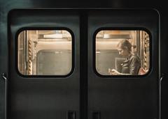 Homebound Metra Train (Jovan Jimenez) Tags: homebound metra train sony alpha a6500 nikon 50mm f18 seriese eseries subway window lady ais people girl woman women classiclens manuallens oldlens vintagelens pancakelens symmetry