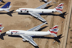 G-BNLG, G-BNLE, G-BNLU, Boeing 747-400, British Airways, Victorville - California (ColinParker777) Tags: british airways ba baw boeing 744 747 747400 747436 gbnle gbnlu jumbo jumbojet stored storage scrap scrapping retired wfu vcv kvcv victorville southern california logistics socal air aircraft plane aeroplane aviation sad gbnlg engineless canon 5d pro l lens telephoto zoom photography spotting spotter airplane usa us united states america retire retirement unused disused wreck b747 5ds 5dsr ds dsr 100400 mkii mk2