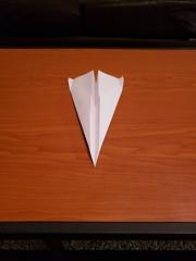 First Plane I learned (awebb0918) Tags: paper airplane art nostalgia aerodynamic folded intact