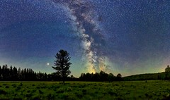Station Flats Mars Panorama (John Andersen (JPAndersen images)) Tags: alberta canon day forgetmenot kananaskis milkyway mountains pond reflections