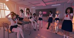 High school class (Moanna Mistwallow) Tags: high school class uniform anime collegian collegiate student classroom m3 m4 venus utilizator monso yumyum lilitu lilitustore sl secondlife second life morning