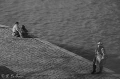 les déambulations photographiques d'un promeneur solitaire  Iles St Louis-9443 (letexierpatrick) Tags: noiretblanc noirblanc noir blanc bw blackandwhite black white paris seine france europe extérieur explore quai eau nikon nikond7000 monochrome
