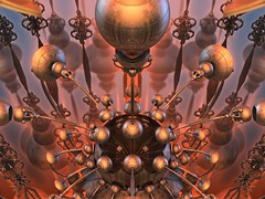 Sphere with Significance (bloorose-thanks 4 all the faves!!) Tags: mandelbulb 3d fractal reflections spheres digital art abstract