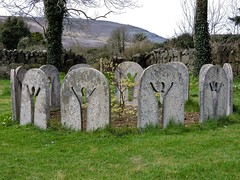 circle even (Shannon O'Haire) Tags: ballyvaughn church churches clare druidstones graveyardphotography graveyards cemeteries religiousstatues religiousinstitutions cross paganireland circlegrave memorials burren ireland eire waw wildatlanticway