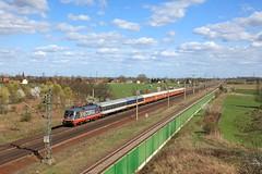 Hectorrail 242 517 + LOC 1819 Berlin Lichtenberg - Stuttgart Hbf  - Wernitz (Rene_Potsdam) Tags: locomore taurus wernitz br182 brandenburg deutschland europe europa treinen trains trenes züge hectorrail