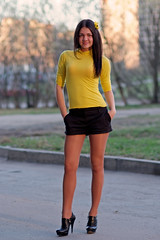 Victoria (ivan_ko) Tags: portrait fujifilm x5pro nikkor 85 18 young beautiful woman girl yellow black hair