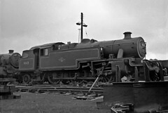 42622, Eastfield, Glasgow, July 1964 (David Rostance) Tags: 42622 lms stanierclass4 eastfield engineshed glasgow