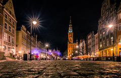 Dluga street at night (Vagelis Pikoulas) Tags: gdansk poland europe travel holiday holidays night nightscape longexposure city cityscape urban lights lightroom canon 6d tokina 2470mm street architecture april spring 2019