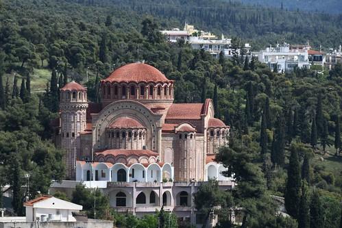 Thessaloniki, Ausblick vom Kloster Vlatadon (Μονή των Βλατάδων) (14. Jhdt.)