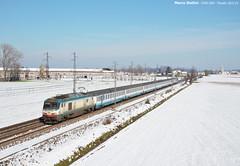 E402.009 (Marco Stellini) Tags: e402a fs trenitalia intercity milano genova pizzale neve inverno