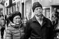 Princes Street, Edinburgh (Cycling-Road-Hog) Tags: beret blackwhite candid canoneos750d citylife colour efs55250mmf456isstm edinburgh edinburghstreetphotography hat monochrome people places princesstreet scotland street streetphotography streetportrait style urban