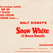 Snow White and the Seven Dwarfs 1967 re-release envelope - back