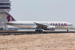 QATAR AIRWAYS CARGO B777-F A7-BFB 001 (A.S. Kevin N.V.M.M. Chung) Tags: aviation aircraft aeroplane airport airlines plane spotting macauinternationalairport mfm taxiway cargo boeing b777 b777f freight