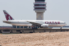 QATAR AIRWAYS CARGO B777-F A7-BFB 002 (A.S. Kevin N.V.M.M. Chung) Tags: aviation aircraft aeroplane airport airlines plane spotting macauinternationalairport mfm taxiway cargo boeing b777 b777f freight