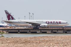 QATAR AIRWAYS CARGO B777-F A7-BFB 003 (A.S. Kevin N.V.M.M. Chung) Tags: aviation aircraft aeroplane airport airlines plane spotting macauinternationalairport mfm taxiway cargo boeing b777 b777f freight