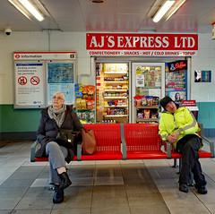 AJ'S Express Ltd: Waltham Cross (Mike Cook 67) Tags: raindrops raining rainyday bustravel busstop busenthusiast enfield northlondon streetphotography streetscene streetshooter fujifilmxf10 fun walthamcross busstation