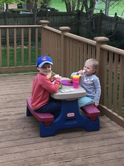 """Paul and Dani Eat on the Deck • <a style=""""font-size:0.8em;"""" href=""""http://www.flickr.com/photos/109120354@N07/47804685902/"""" target=""""_blank"""">View on Flickr</a>"""