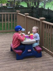 """Paul and Dani Eat on the Deck • <a style=""""font-size:0.8em;"""" href=""""http://www.flickr.com/photos/109120354@N07/47804685982/"""" target=""""_blank"""">View on Flickr</a>"""