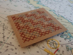 A weaving pattern in cross-stitch (Landanna) Tags: embroidery embroideryonpaper broderi broderipåpapir borduren bordurenoppapier crossstitch aweavingpatternincrossstitch paperart paperwork paper papier papir artjournal journal sketchbook ledger handmade handgemaakt handwerk håndlavet