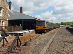 143617 & 150261 Barnstaple (1) (Marky7890) Tags: 143617 class143 pacer gwr 150261 class150 sprinter 2f39 barnstaple railway devon tarkaline train