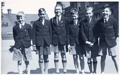 Boys at Winterbourne School in the Mid-1950's (pepandtim) Tags: postcard old early nostalgia nostalgic winterbourne school 1950s group schoolboys blazers shorts ties friends 78baw42
