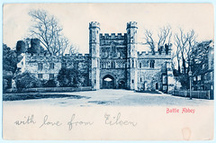 Battle Abbey - Front Façade of Gateway Prior to 1903 (pepandtim) Tags: postcard old early nostalgia nostalgic philip william may caricaturist miss moore sinclair road west kensington park london 46baf43