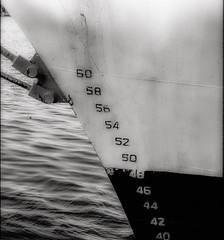 "Ships bow (tvdflickr) Tags: ""nikonf5"" f5 nikon tvdimages ""photobythomasdriggers"" monochrome port boat ship film slide scanned scala savannah georgia savannahgeorgia photobytomdriggers thomasdriggersphotography"
