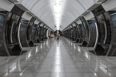 Savelovskaya (gubanov77) Tags: savelovskaya metro subway underground station moscow russia passengers platform reflection architecture design city cityscape urban moscowmetro moscowphotography metropoliten transport symmetry