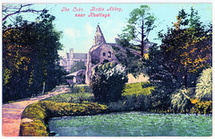 Battle Abbey - The Lake (pepandtim) Tags: postcard old early nostalgia nostalgic battle abbey sussex 27bal28 benedictine hastings st martin tours english heritage