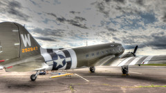 Artsy DC-3 (blazer8696) Tags: 1944 2019 292847 3x air airpower american brother c47a c47 caf ct commemorative connecticut dc3 dc3c ecw force hdr heritage img65899091painterly museum n47tb oxc oxford skytrain southford t2019 thats thatsallbrother usa unitedstates all douglas