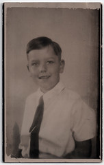 Portrait of Boy (pepandtim) Tags: postcard old early nostalgia nostalgic portrait boy 1954 28prt54